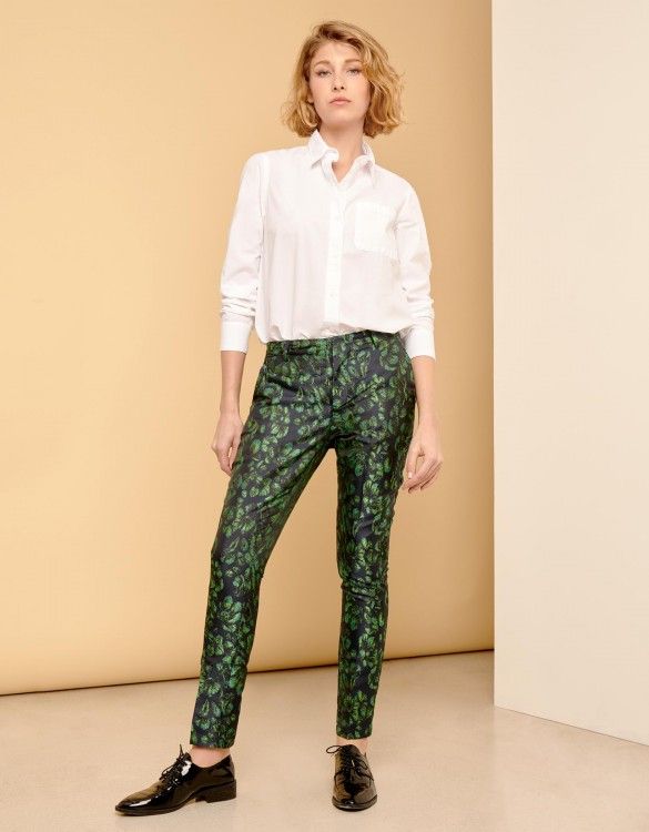 Pantalon cigarette Lizzy Fancy - PEACOCK