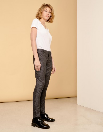 Pantalon cigarette Lizzy Fancy - METALLIC BLACK