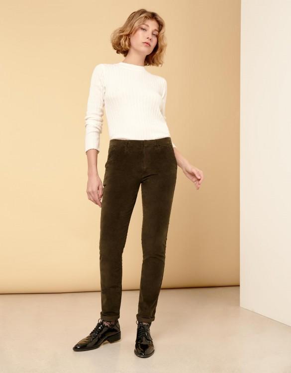 Chino Trousers Sandy Velvet - DARK KAKI