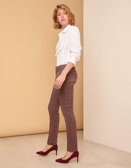 Pantalon cigarette Lizzy Fancy - BURGUNDY