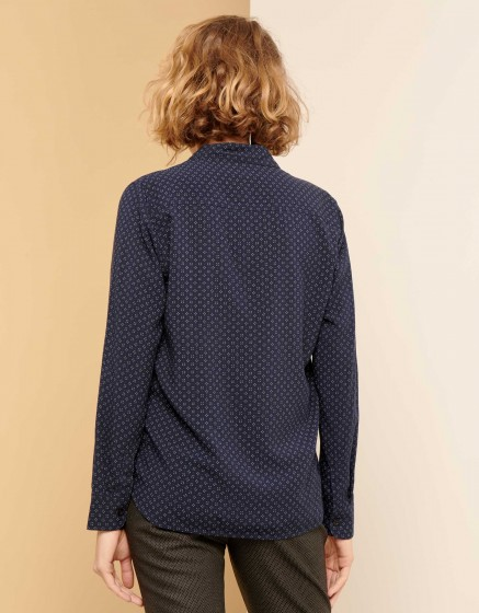 Chemise Carlo Printed - NAVY STAMPS