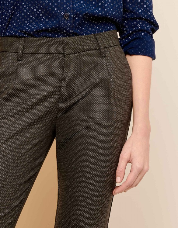 Cigarette Trousers Larson Fancy - GREY SCALED