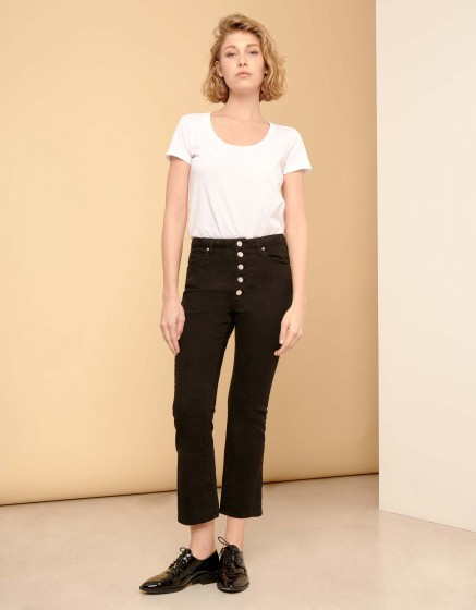Jean boxy cropped Paulin - DNM BLACK