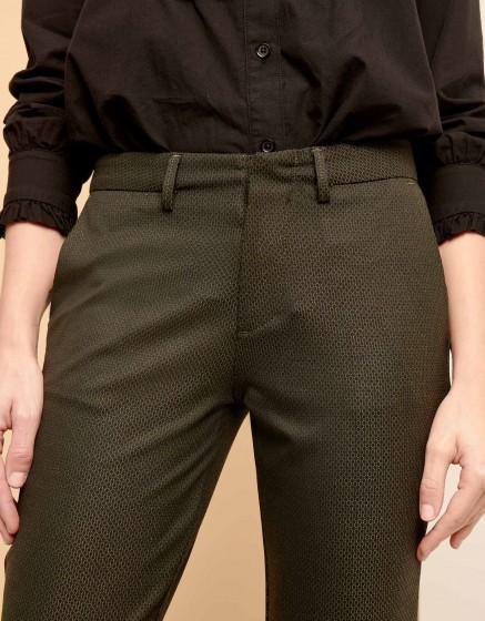 Pantalon cigarette Lizzy Fancy - GREEN SCALED