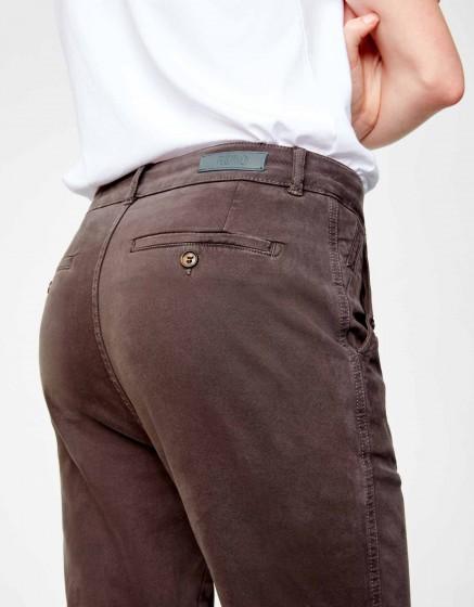 Pantalon chino tapered Scott - CARBONE