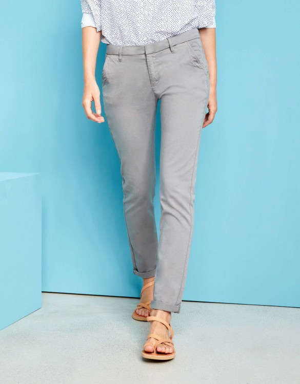 Pantalon chino Sandy - MOSS GREY