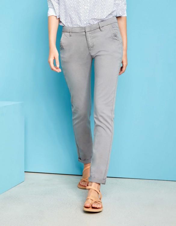 Pantalon chino Sandy - MOSS GREY