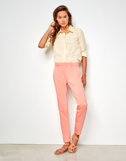 Cigarette Trousers Lizzy Color - SORBET PIPING