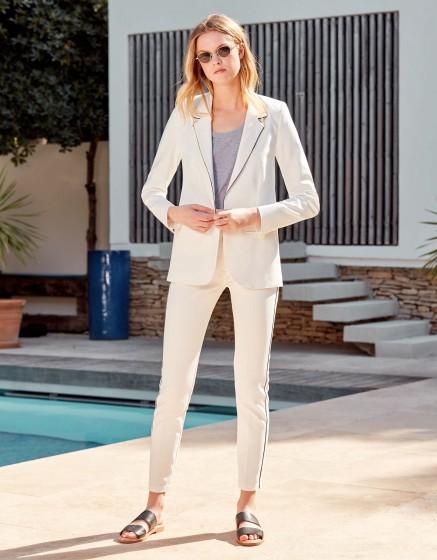 Veste blazer Blair Color - WHITE - NAVY