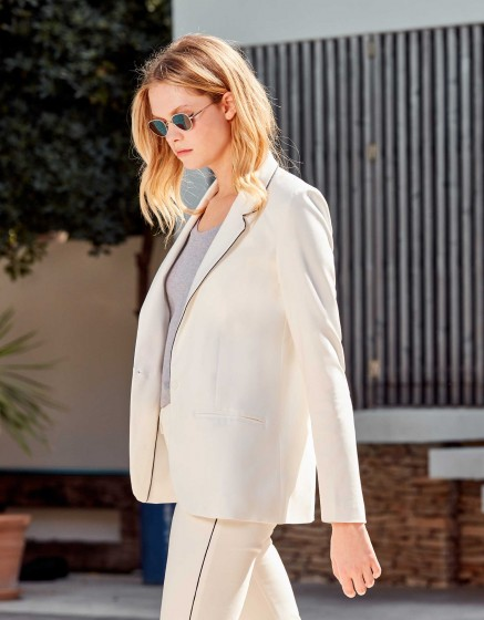 Veste blazer Blair Color - WHITE - NAVY