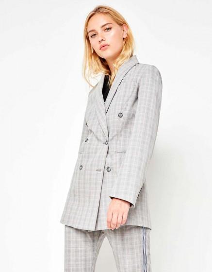 Blazer jacket Basil Fancy - LIGHT TARTAN