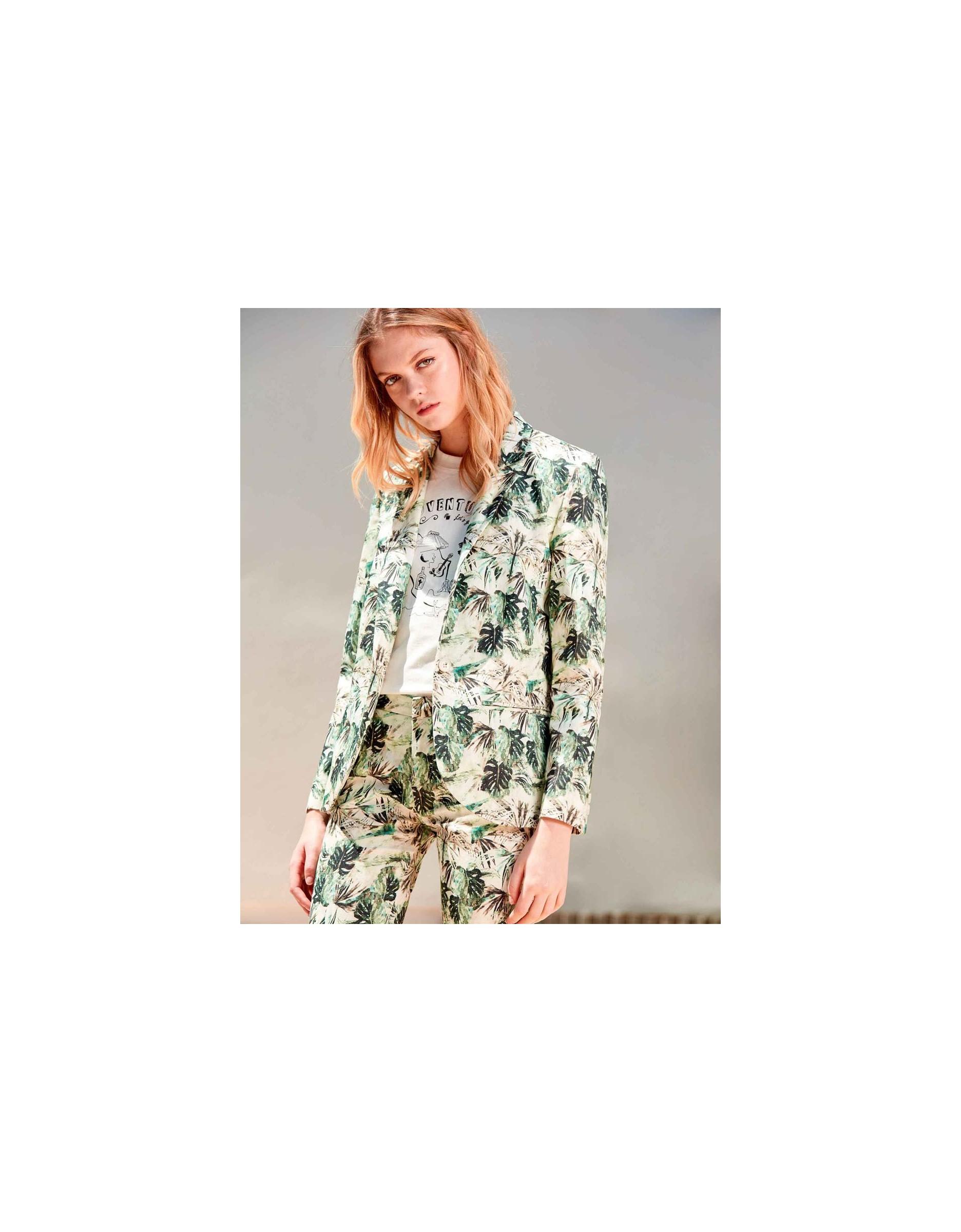 Blazer blair printed - palm green