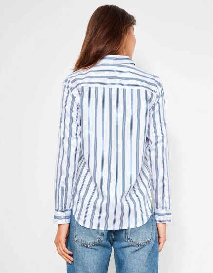 Chemise Carlo Printed - STRIPES NAVY