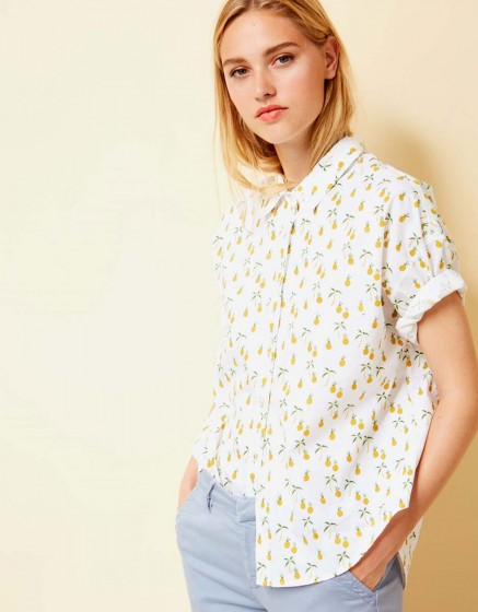 Chemise Cléo Printed - PINEAPPLE