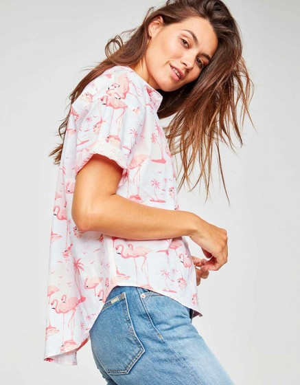 Shirt Cléo Printed - TROPICAL