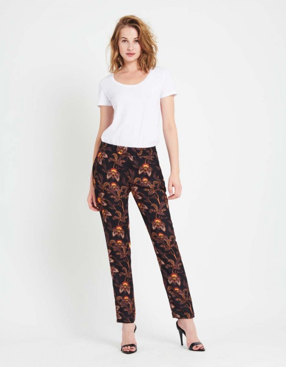 Pantalon Street Edwin Printed - BLACK FLOW