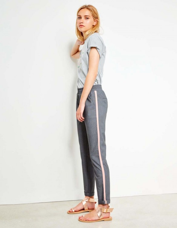 Pantalon street Elvin Fancy - GREY PEPPER