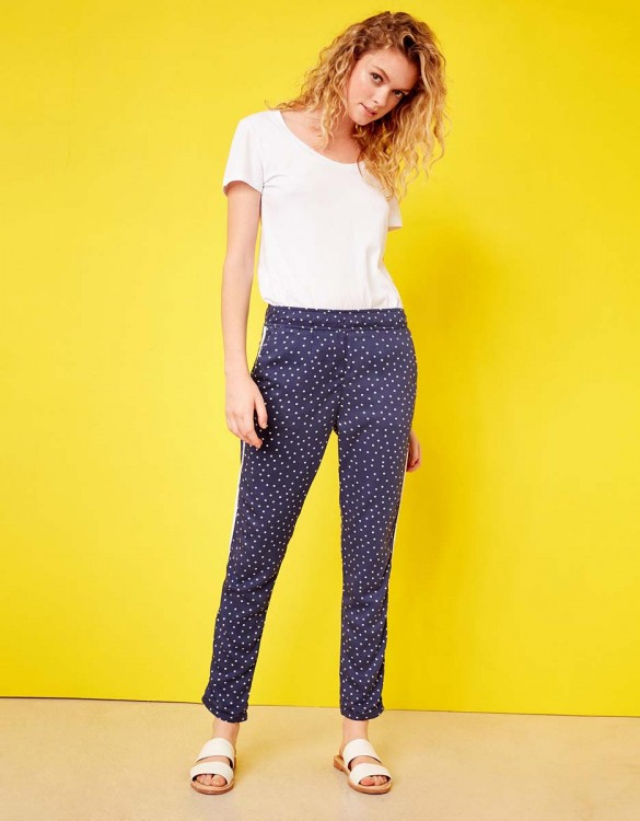 Street trousers Elvin Printed - DOTS INDIGO