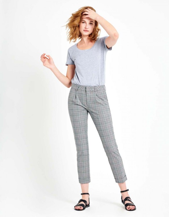Pantalon cigarette Larson Fancy - GREEN CHECKED