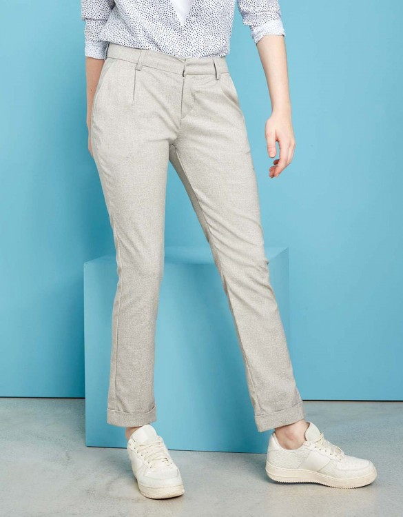 Pantalon cigarette Larson Fancy - GREY RAFIA