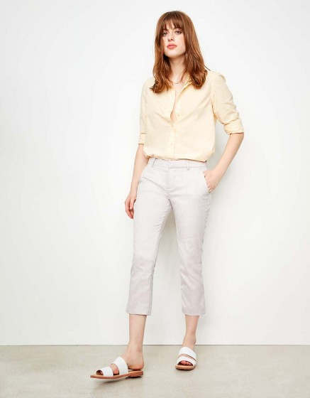Pantalon cigarette Cropped Laura Fancy - PINK RAFIA