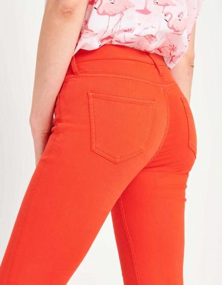 Pantalon skinny cropped Lily Color - WATERMELON