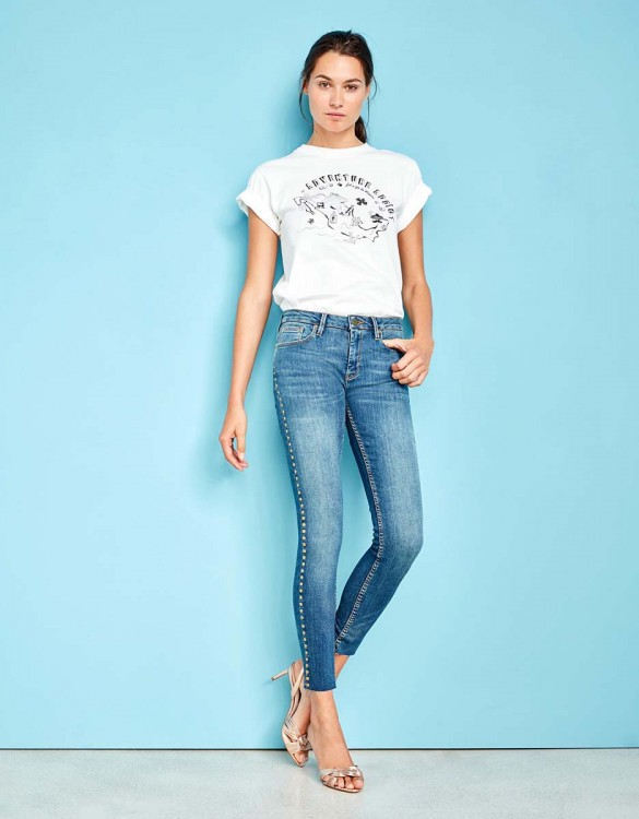 Jean skinny cropped Lily Studs - DNM M-82