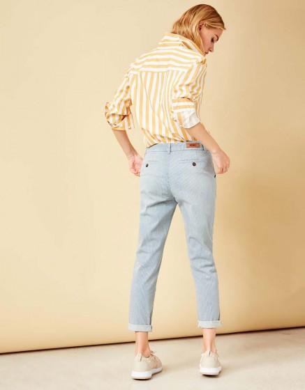Pantalon chino tapered Scott Stripes - INDIGO