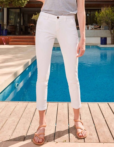 Pantalon chino Sandy Skinny - WHITE
