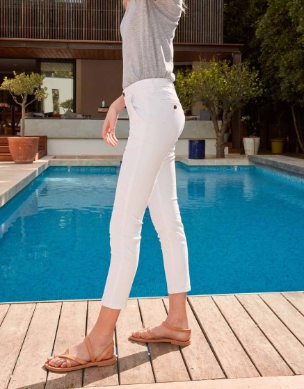 Pantalon chino Sandy Skinny - WHITE