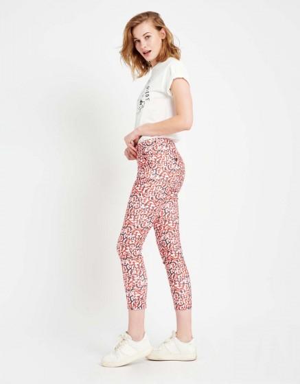 Pantalon chino Sandy Skinny Printed - RED LEO