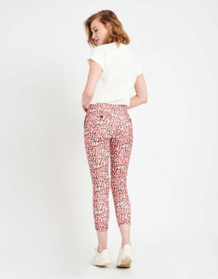 Chino Trousers Sandy Skinny Printed - RED LEO
