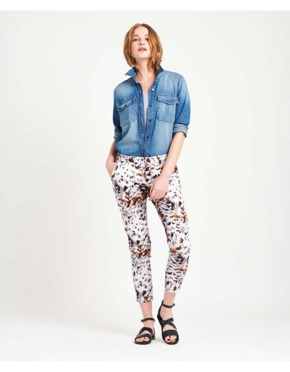 Pantalon chino Sandy Skinny Printed - FEATHER