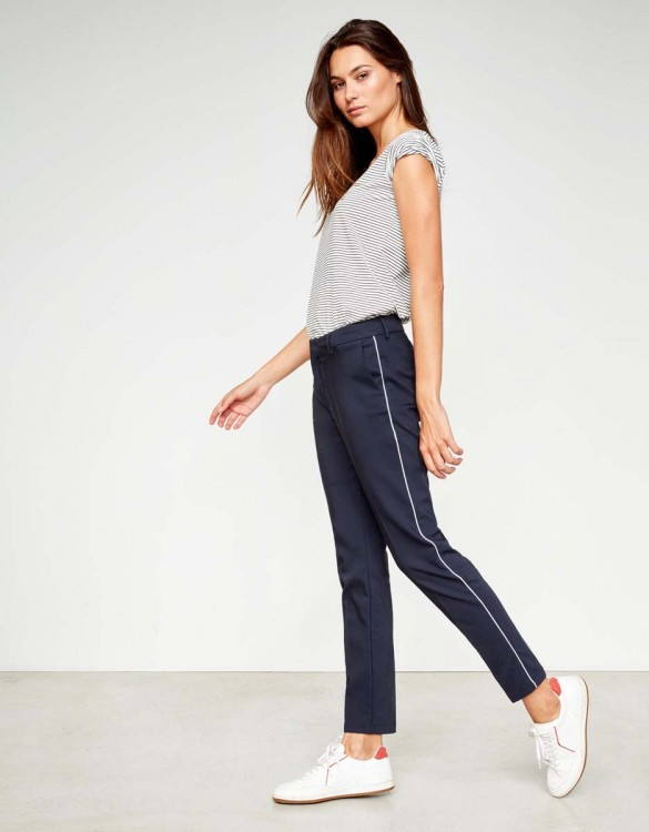 Pantalon Cigarette Lizzy Color - NAVY PIPING
