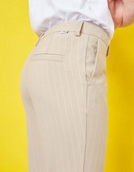 Pantalon cigarette Lizzy Fancy - BEIGE STRIPES