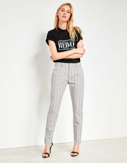 Cigarette Trousers Lizzy Fancy - LIGHT TARTAN