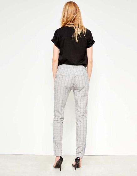 Cigarette Trousers Lizzy Fancy - LIGHT TARTAN