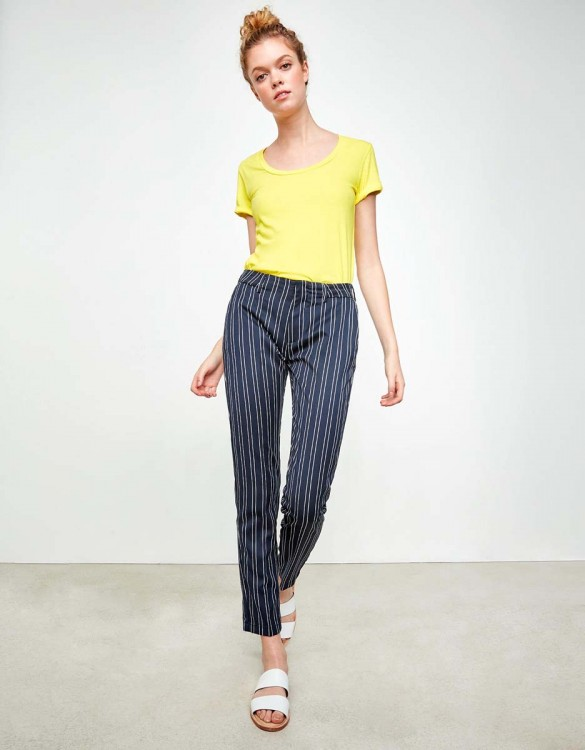 Cigarette Trousers Lizzy Fancy - SEA STRIPED