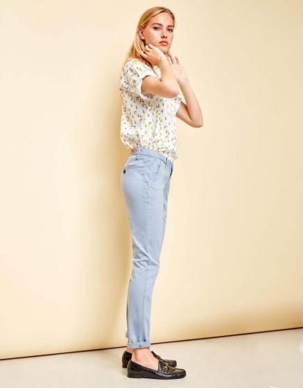 Pantalon chino Sandy - SILVER BLUE
