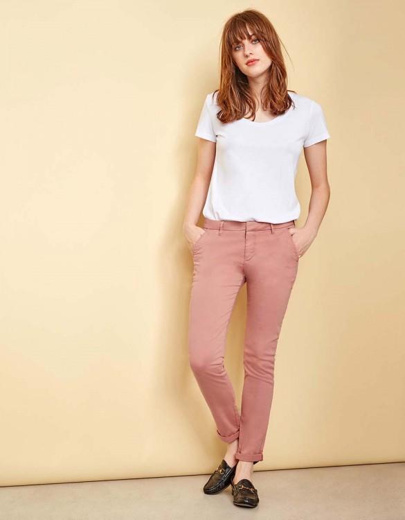 Pantalon chino Sandy - OLD ROSE