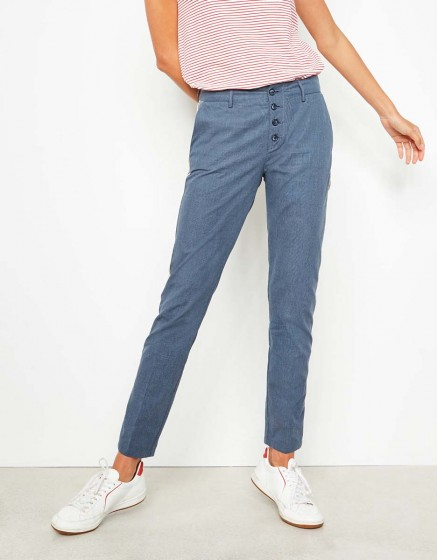 Cigarette Trousers Lucien Fancy - INK CHECKED