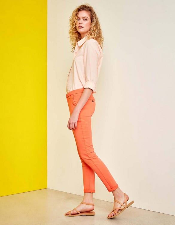 Chino Trousers Sandy - FLAMINGO