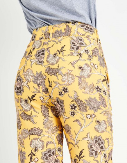 Pantalon straight cropped Luis Printed - YELLOW FLOW