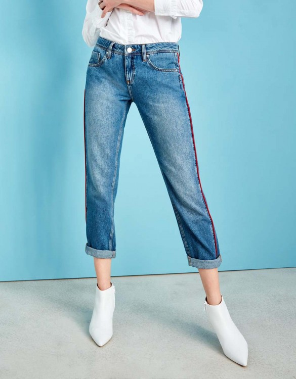 Jean boyfriend Nina Piping - WATERMELON DNM B-27