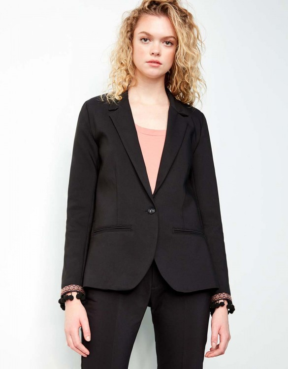 Blazer Blair Boho - BLACK