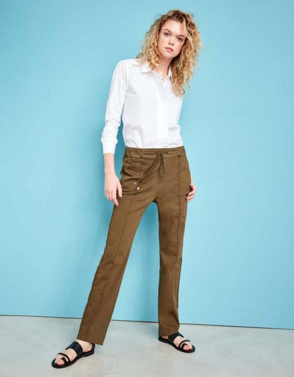 Street trousers Elly - DARK KAKI
