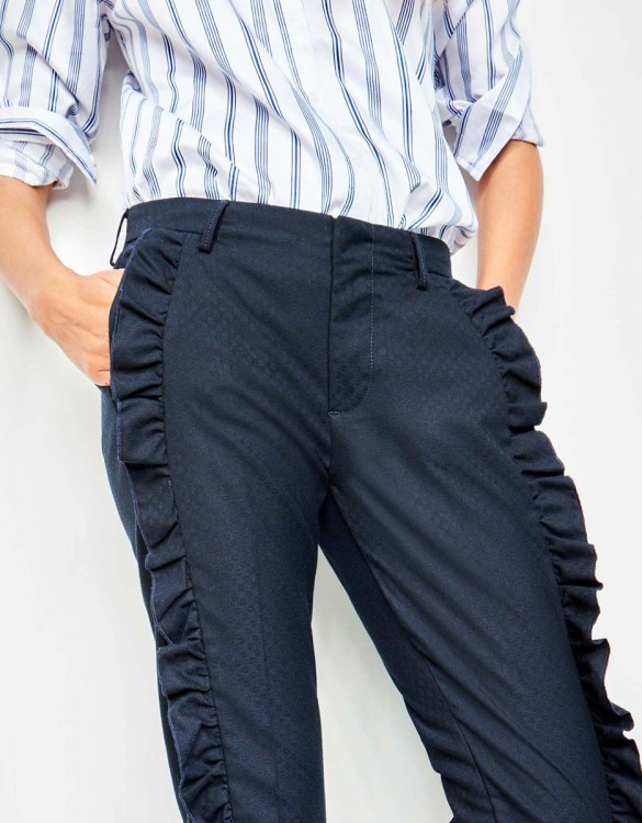 Cigarette Trousers Lenzo Fancy - ECLIPSE