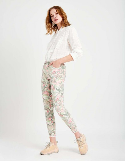 Pantalon skinny cropped Lily Printed - BAY FLOWER