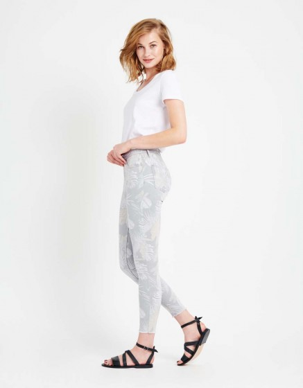 Pantalon skinny cropped Lily Printed - TROPIC STORM