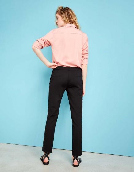 Pantalon cigarette Lizzy Sparkle - BLACK